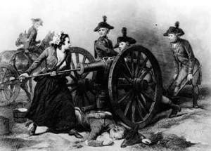 Molly Pitcher at the Battle of Monmouth